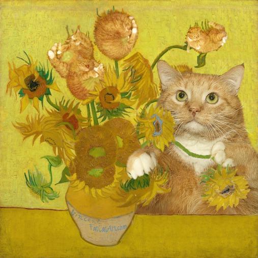 Van_Gogh_-_Sunflowers-cat-w