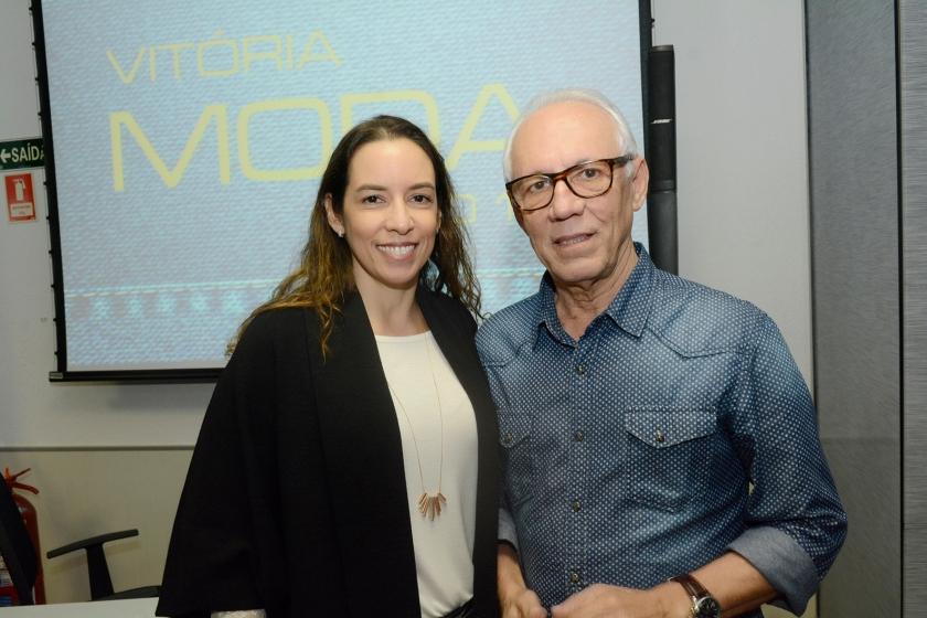 Roberta Dessaune, da Premium, e José Carlos Bergamin, da Findes (Foto Cloves Louzada)