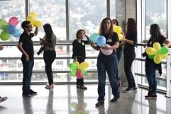 Os alunos do 6° período esperando as crianças chegarem