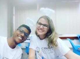 Estevão Fortunato e Michelly Effgen