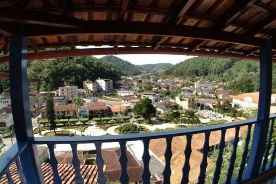 Vista do município das montanhas capixabas