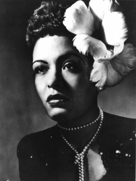 retrato de famosa cantora de jazz