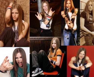 Avril no início da carreira