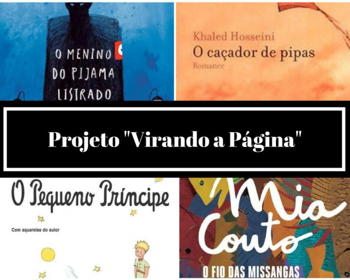 4 capas de livros clássicos: O Menino do Pijama Listrado, O Caçador de Pipas, O Pequeno Príncipe e O fio das Missangas