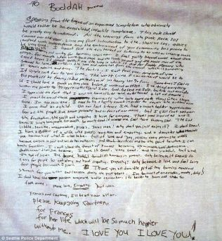 Muitos acreditam que a carta deixada por Kurt antes de morrer na verdade foi escrita por Courtney