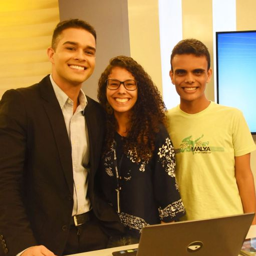 Karen e Matheus com Philipe Lemos