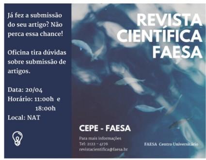 arte desenvolvida para divulgar a revista científica Faesa