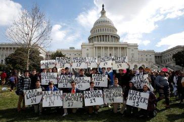 Marcha contra armas nos EUA. Fonte: google imagens