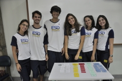 Grupo de alunos da oficina prática de Psicologia