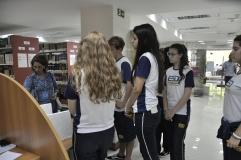 Alunos da Escola São Domingos visitam a Biblioteca FAESA