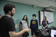 Alunos da ESD com o professor Felipe Tessarolo