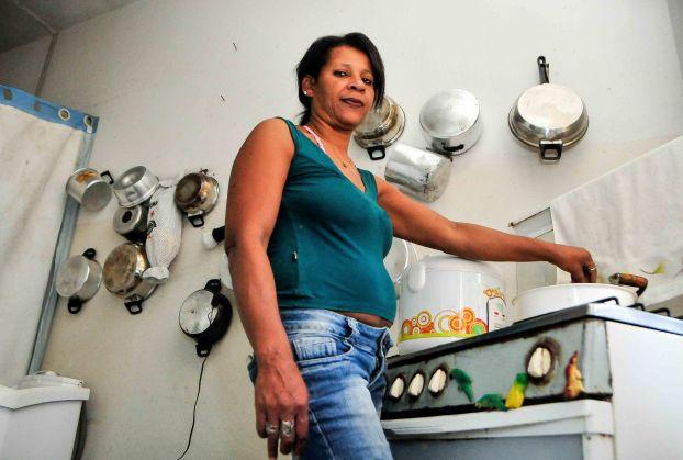 Marilza Paulino Teixeira, 49, zeladora ddesempregada, ocupante do 3º andar edificiio IAPI / Foto: Zanete Dadalto