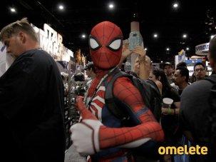 Fã fantasiado de Homem-Aranha na San Diego Comic Con