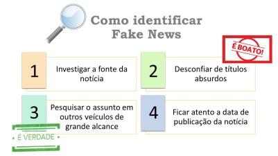 infográfico sobre fake news
