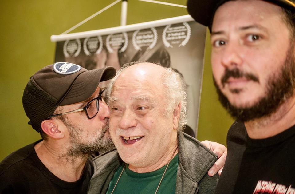 Diretor e atores do filme na pré estreia no Rio