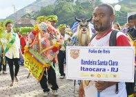 Grupo de foliãs do Rio de Janeiro que participam do Encontro Nacional de Folia de Reis