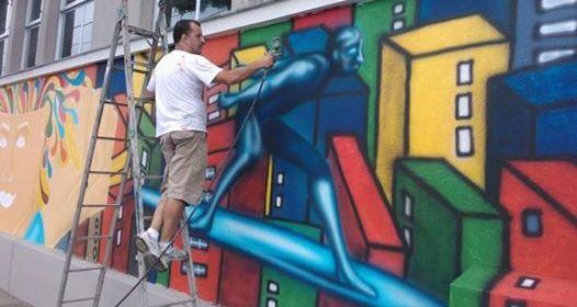 emílio aceti usando grafite