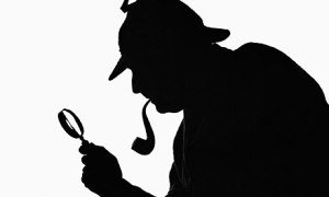 Silhueta de Sherlock Holmes