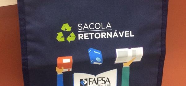 Sacola Retornavel Biblioteca Faesa