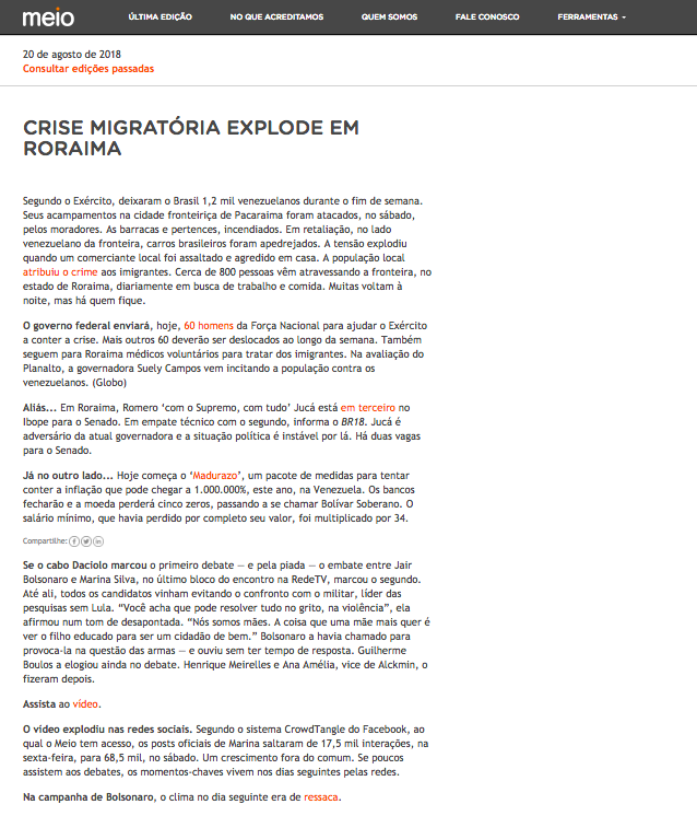 Canal Meio - Newsletter