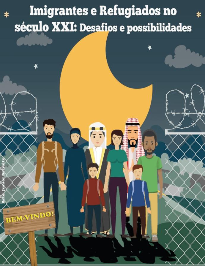 Cartaz Evento dos Refugiados. Arte: Edson Schultz