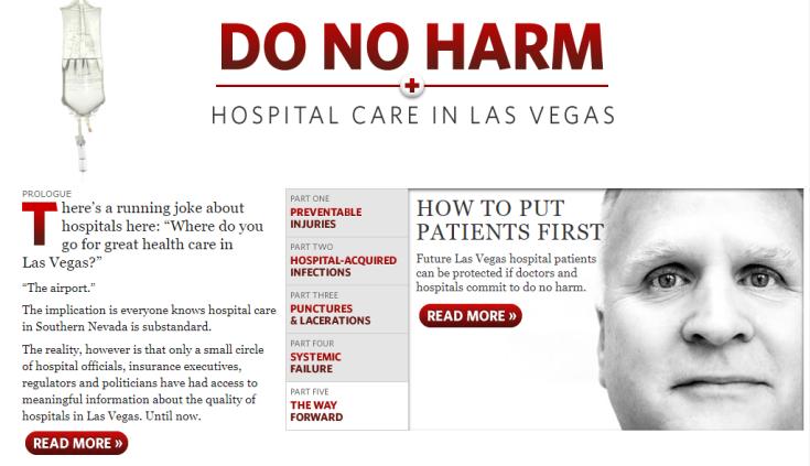 Reportagem sobre hospitais