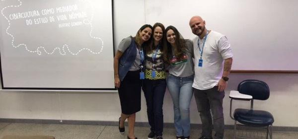 Beatriz Gondim apresentando TCC