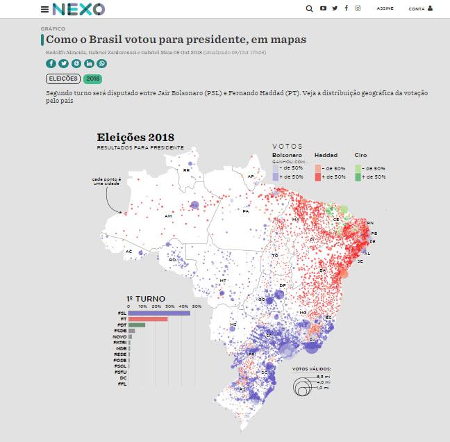 Screenshot de uma matéria do jornal Nexo. Fonte: Internet