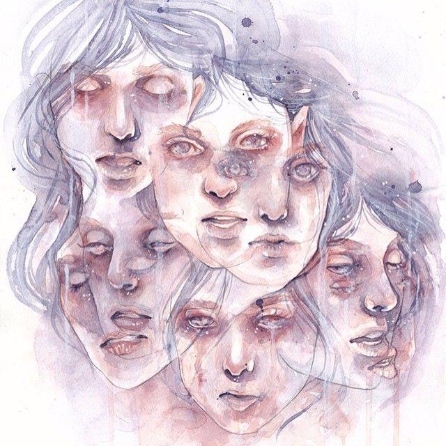 Transtorno Dissociativo de Identidade - Arte feita por Silva Vitch
