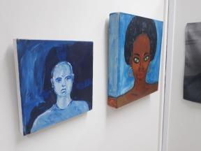 Obras Homem de cor, de Luciano Boi, e Preta brasileira de Irineu