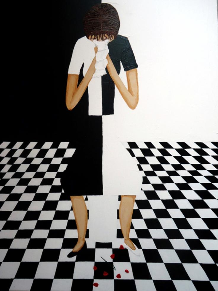 """""""Judy Crying Rose"""" feita pelo alter ego Judy de Kim Noble. Fonte: Internet - Aletheia"""