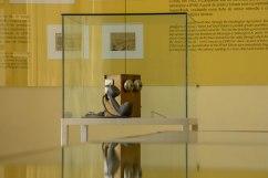 Foto do telefone histórico tirado no interior do Museu Vale / Foto: Juan Mofati