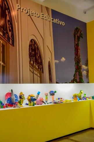 Brinquedos artesanais em exposição no Museu Vale / Foto: Ana Paula Senna