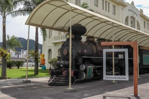 Trem em exposição no Museu Vale / Foto: Gabriela Vargas