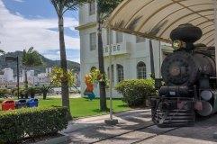 Trem na área externa do Museu Vale / Foto: João Malta