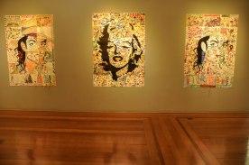 Exposição de releituras das obras de Vik Muniz feito por crianças / Foto: Lucas Damacena