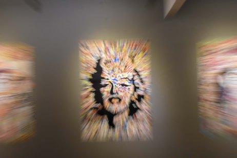 Foto Museu Vale - Quadros de arte em exposição no museu com técnica de zoom in / Foto: Natan Oliveira