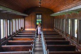 Fotos Museu Vale - Ambiente externo, Maria Fumaça com criança / Foto: Natan Oliveira