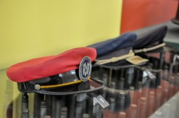 Acervo do Museu, Chapéus usados pelos maquinistas do trem / Foto: Victor Sales