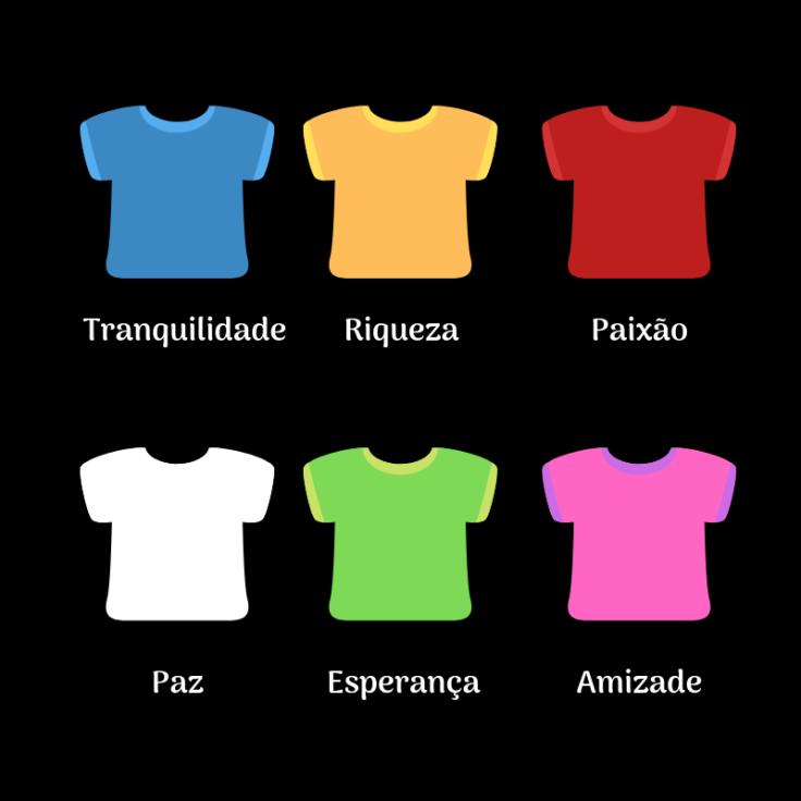 Roupas e os significados das cores